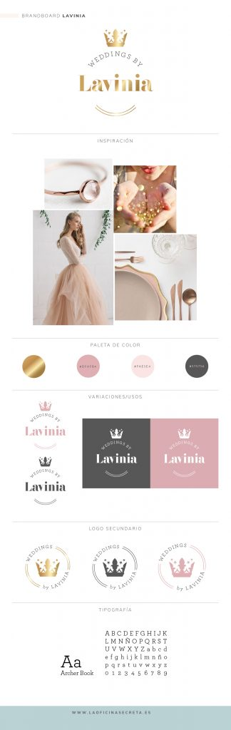 Brandboard weddings by lavinia